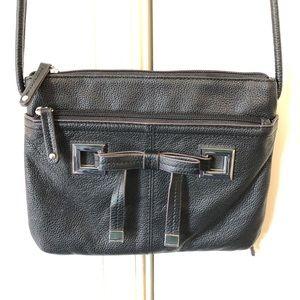 NWOT Tignanello Purse Crossbody Black Leather
